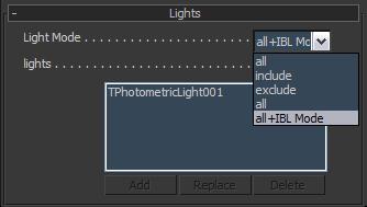 Light Mode Parameters