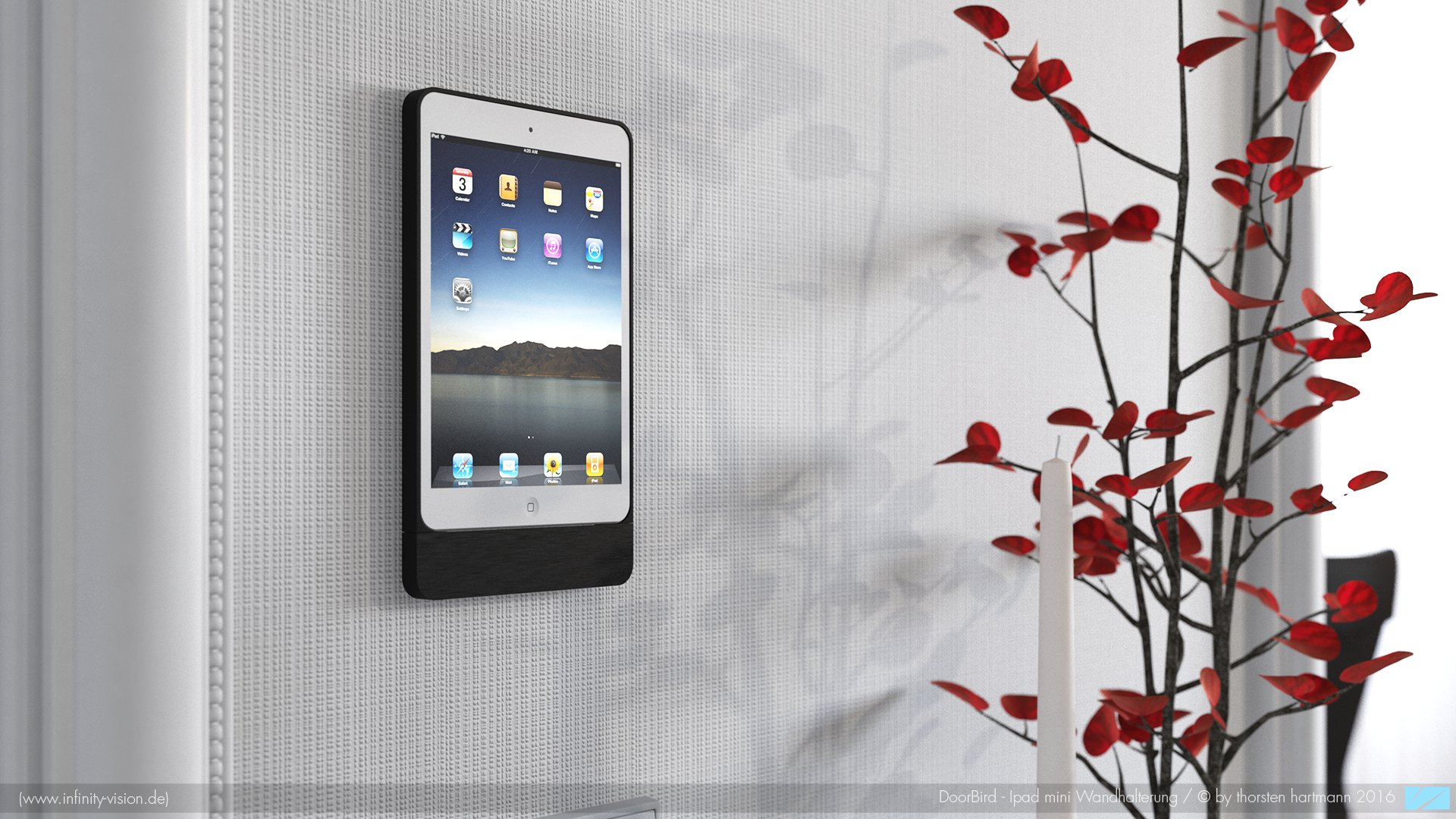 Ipad wall holder by Doorbird Home