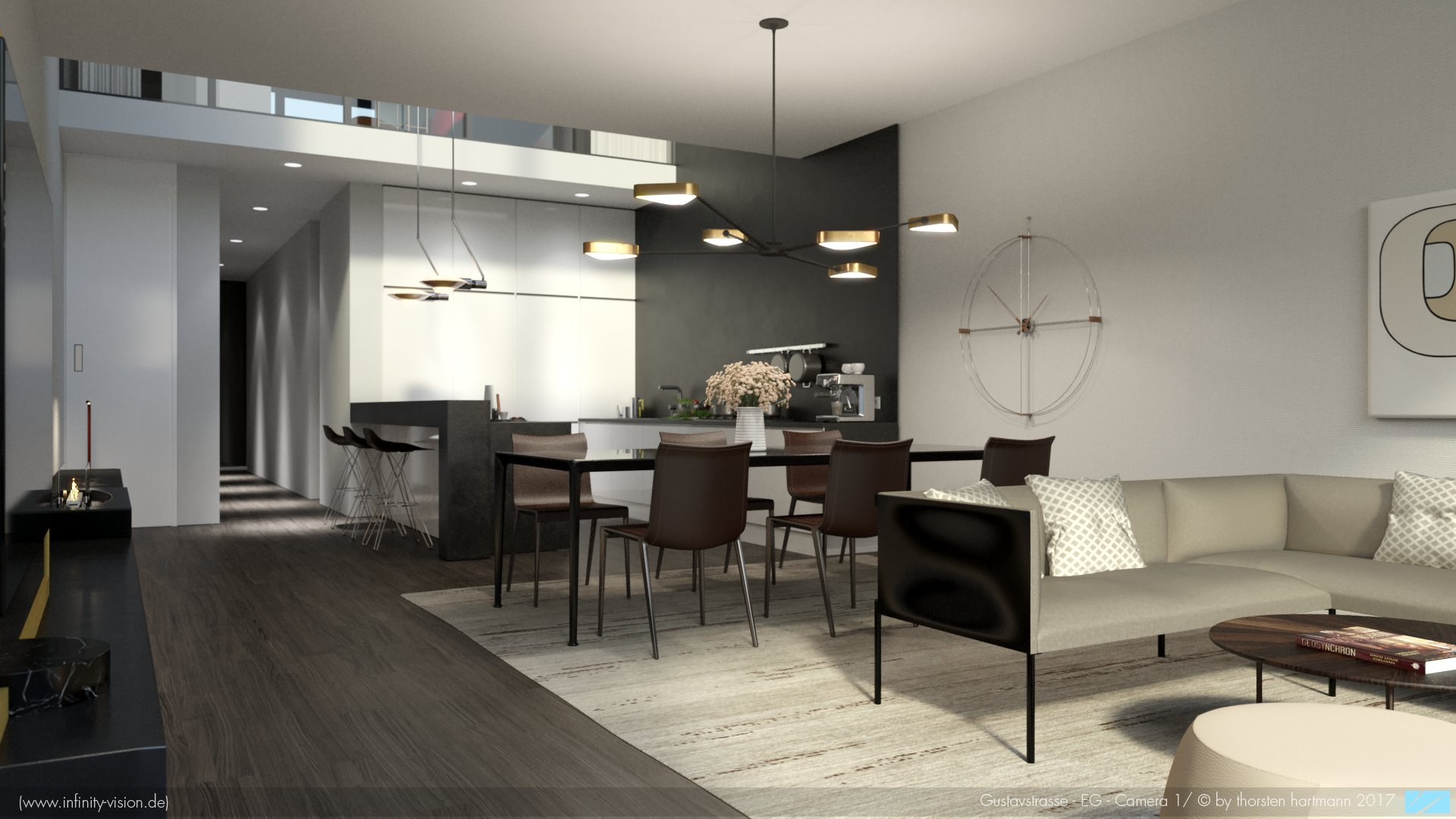 Gustavstrasse / kitchen + dining room