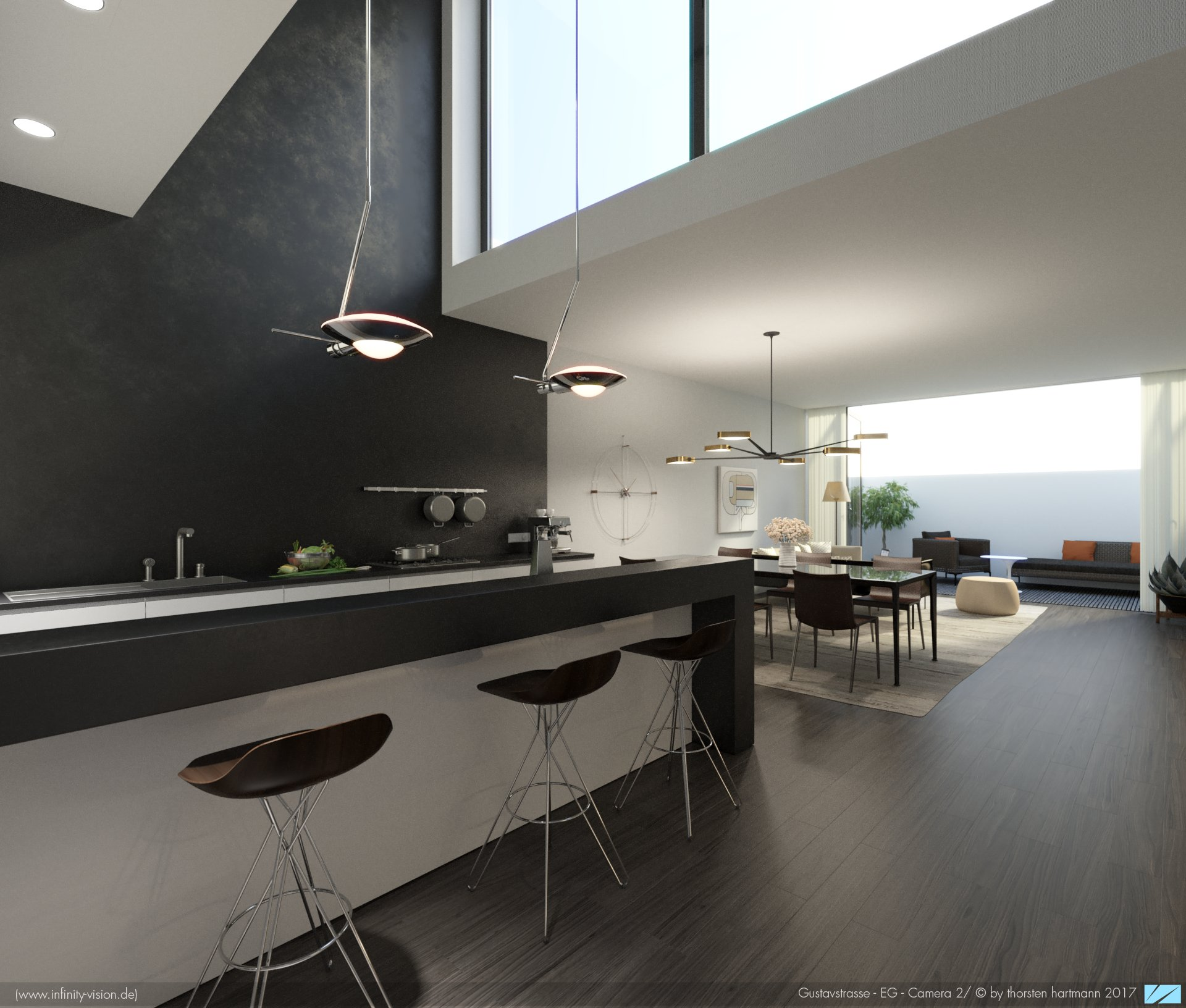Gustavstrasse/ kitchen + dining room